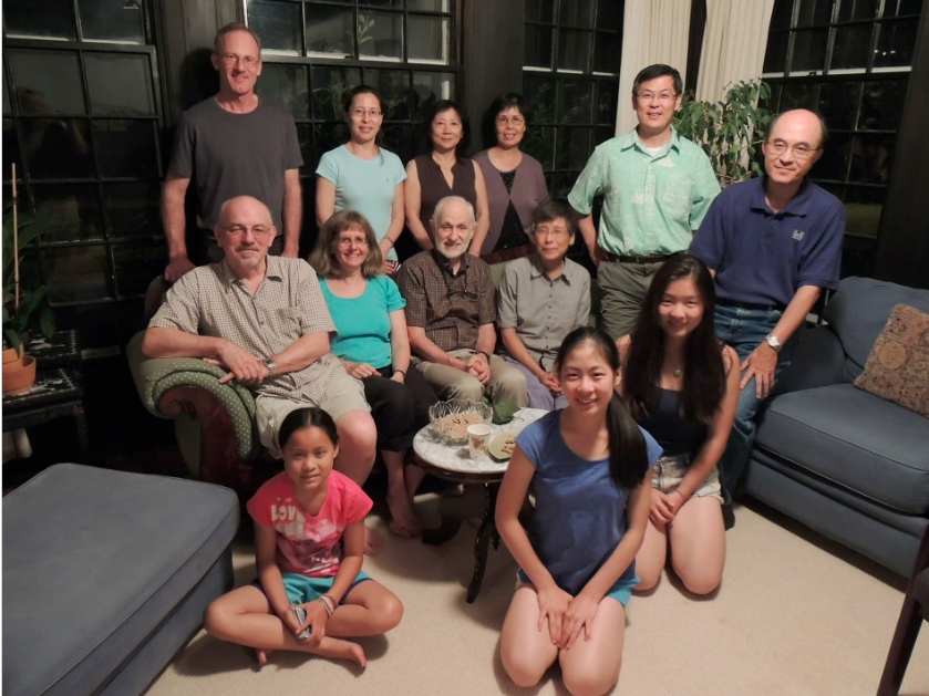 From left to right, 3rd row standing: Mark Kremzner, Wensha (Jinbo's wife), Gao Lan, Marian Lee and Jinbo; 2nd row sitting: Steve, Susan Lieberman, Craig Dietrich, Sally Ng and Steve Lee.