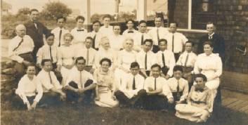 First Baptist Church Sunday school picnic ca. 1920. Courtesy Maine Historical Society.